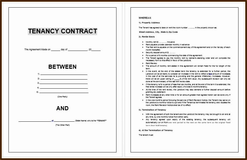 Free Microsoft Word Rental Agreement Templates
