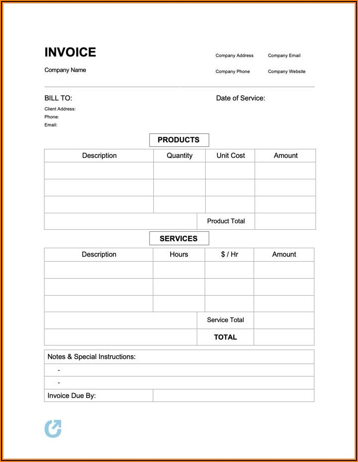 Free Printable Blank Purchase Order Form