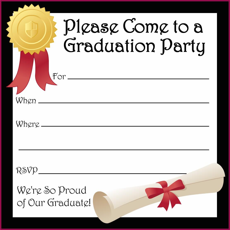 Free Printable High School Graduation Announcement Templates