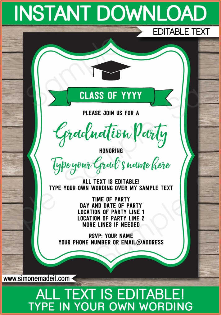Free Printable Name Cards For Graduation Announcements