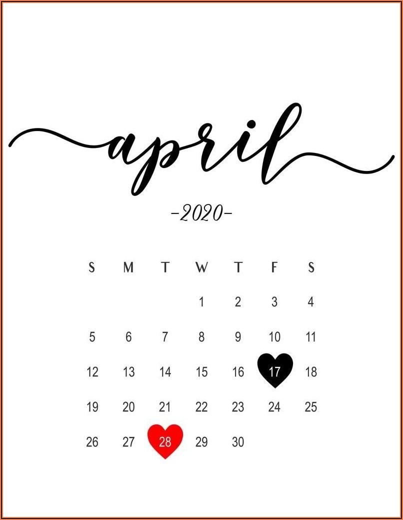 Free Printable Pregnancy Announcement Calendar 2020