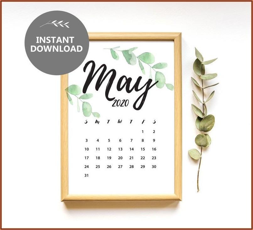 Free Printable Pregnancy Announcement Calendar May 2021