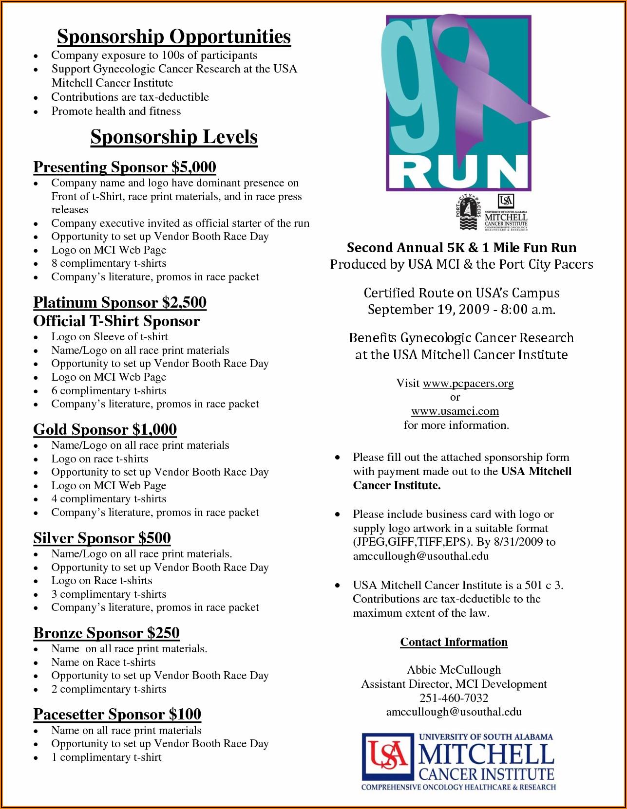 Fundraising Sponsorship Form