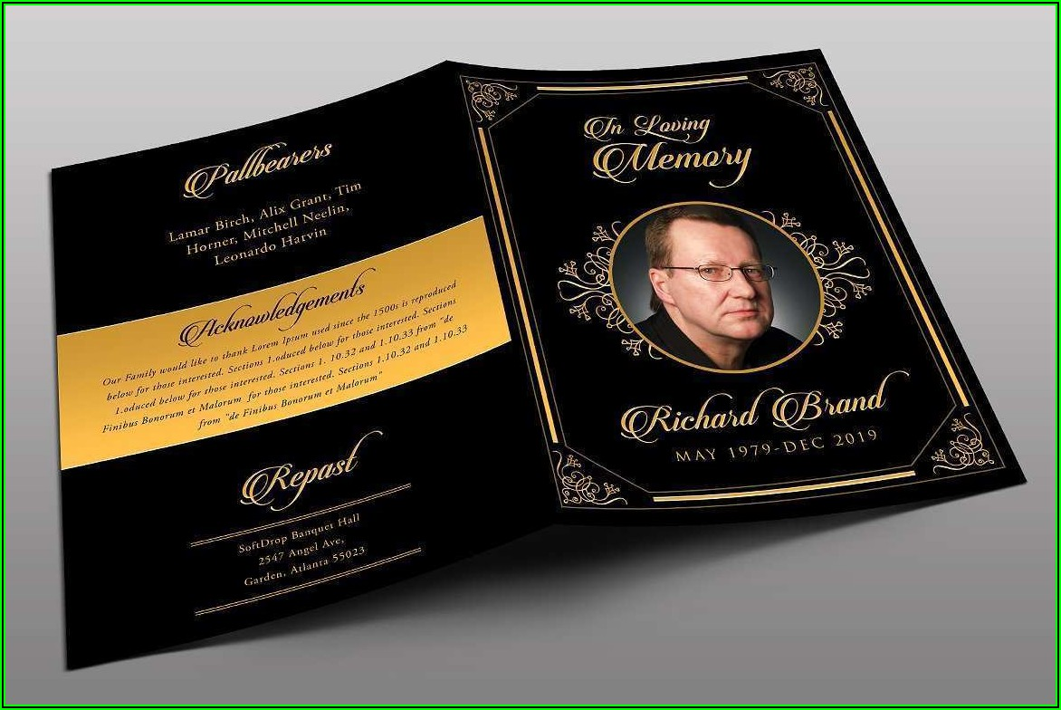 Funeral Flyer Templates Free