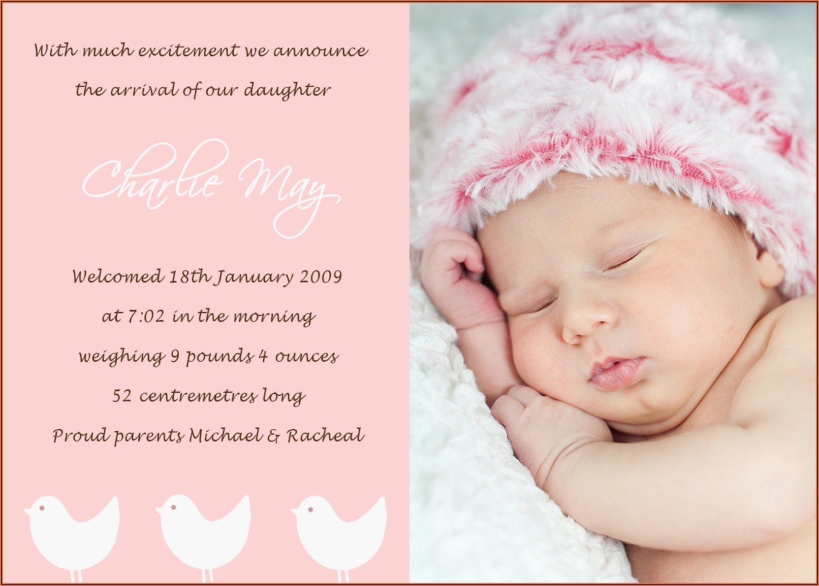 Funny New Baby Announcement Wording