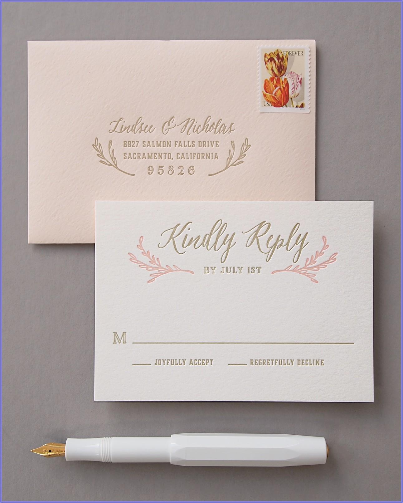 Gold And Blush Wedding Invitations