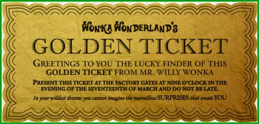 Golden Ticket Invitations Template Free