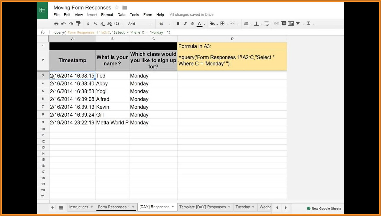 Google Docs Form Builder