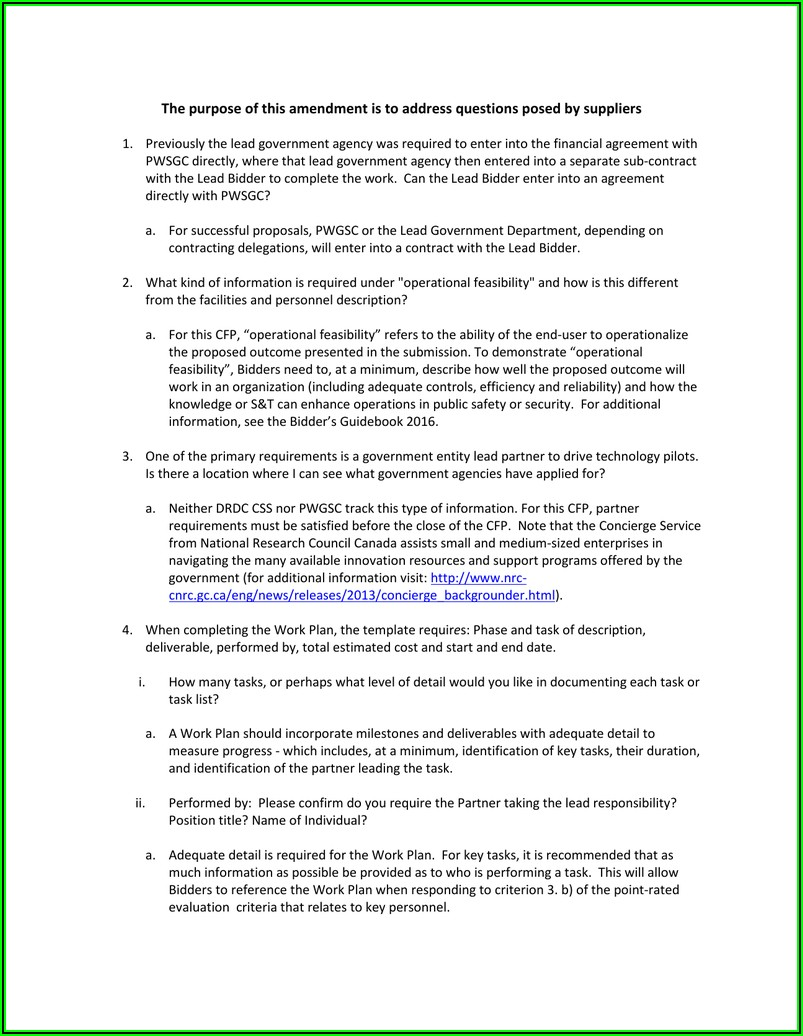 Government Of Canada Partnership Agreement Template