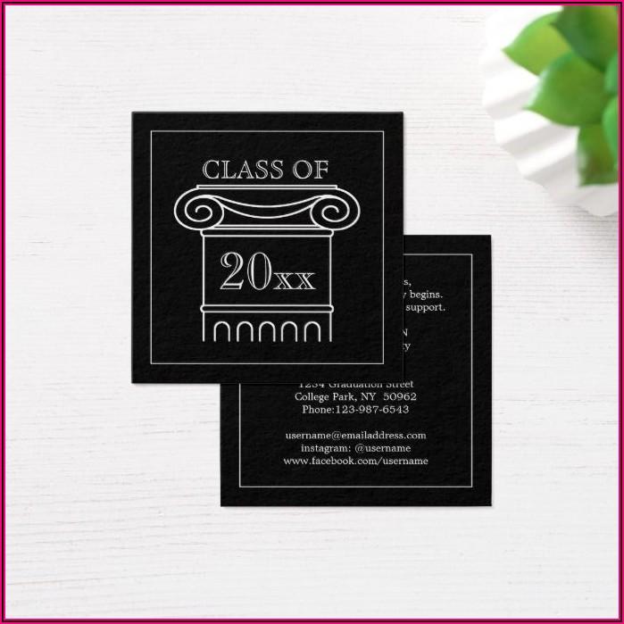 Graduation Announcement Name Inserts