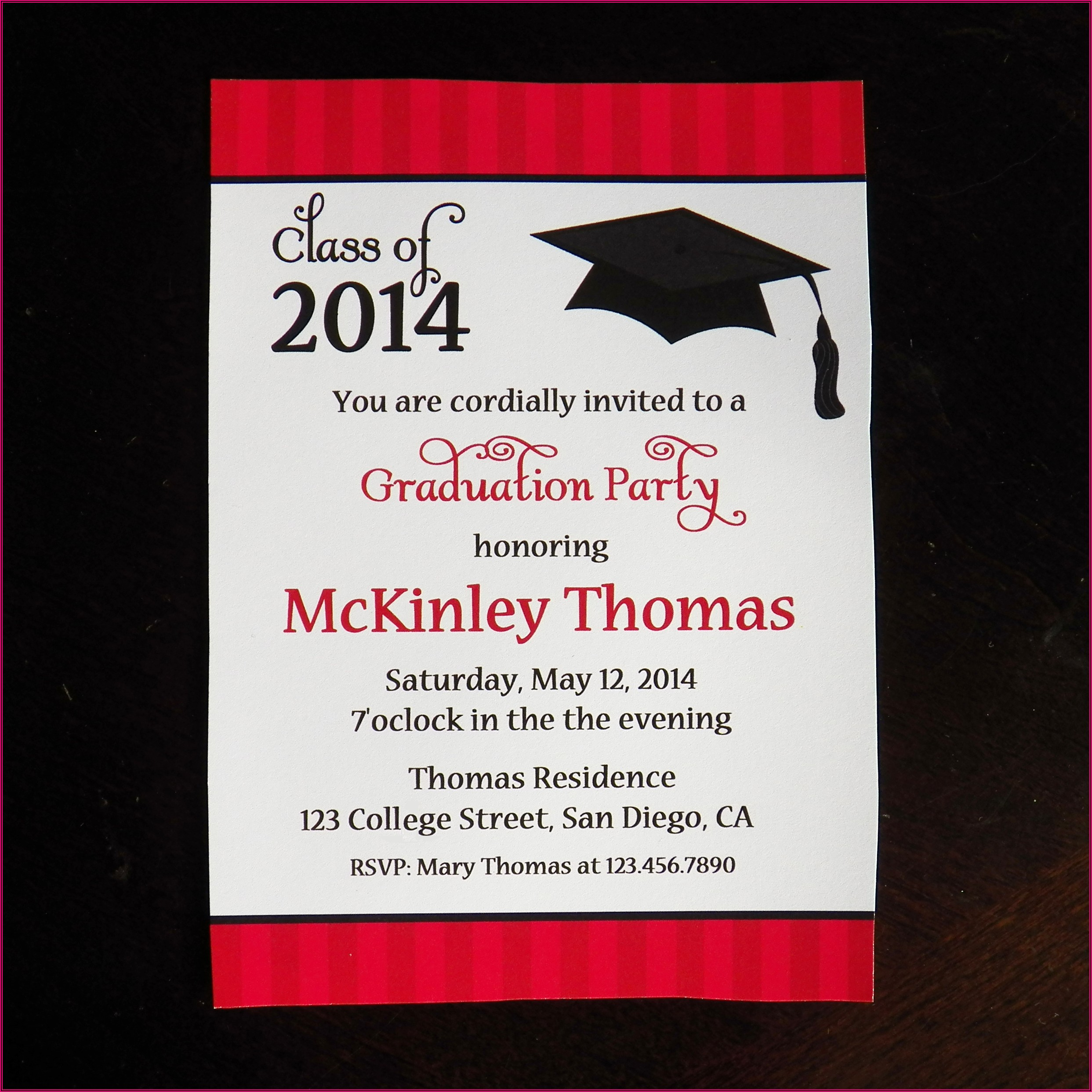 Graduation Ceremony Announcement Wording