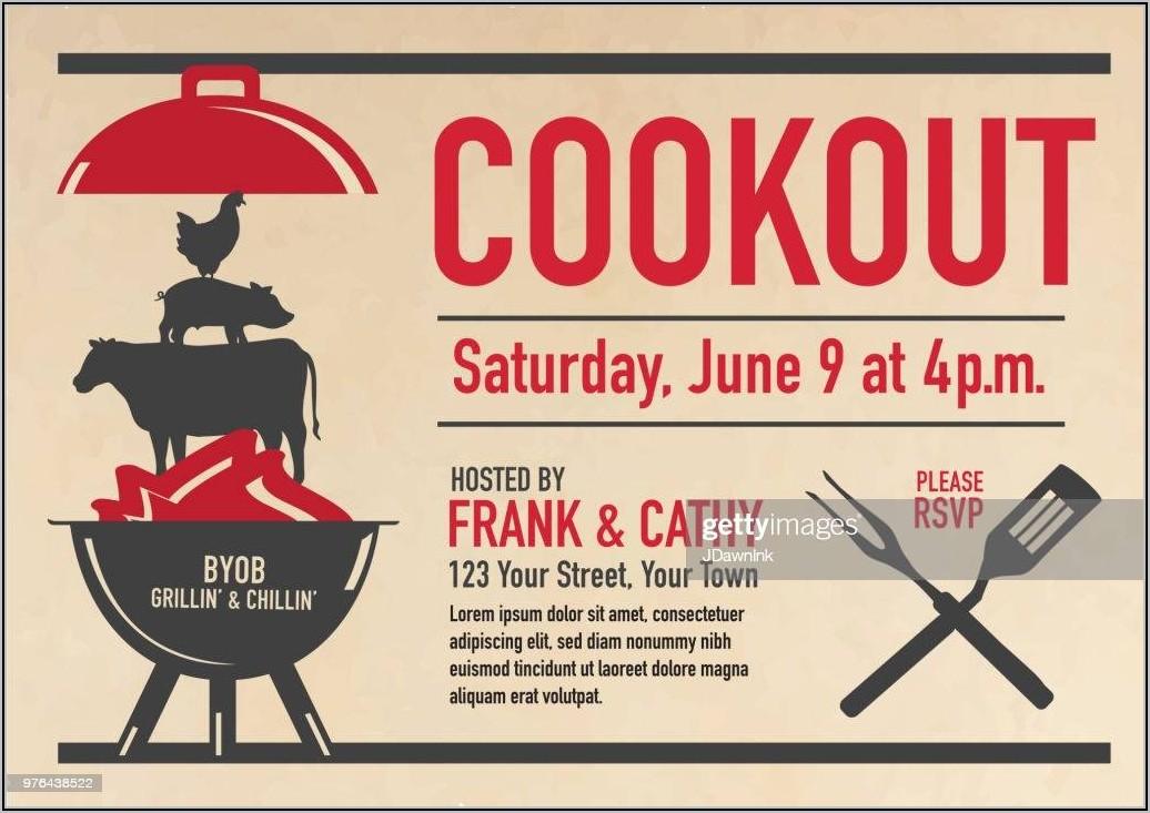 Graduation Cookout Invitation Template