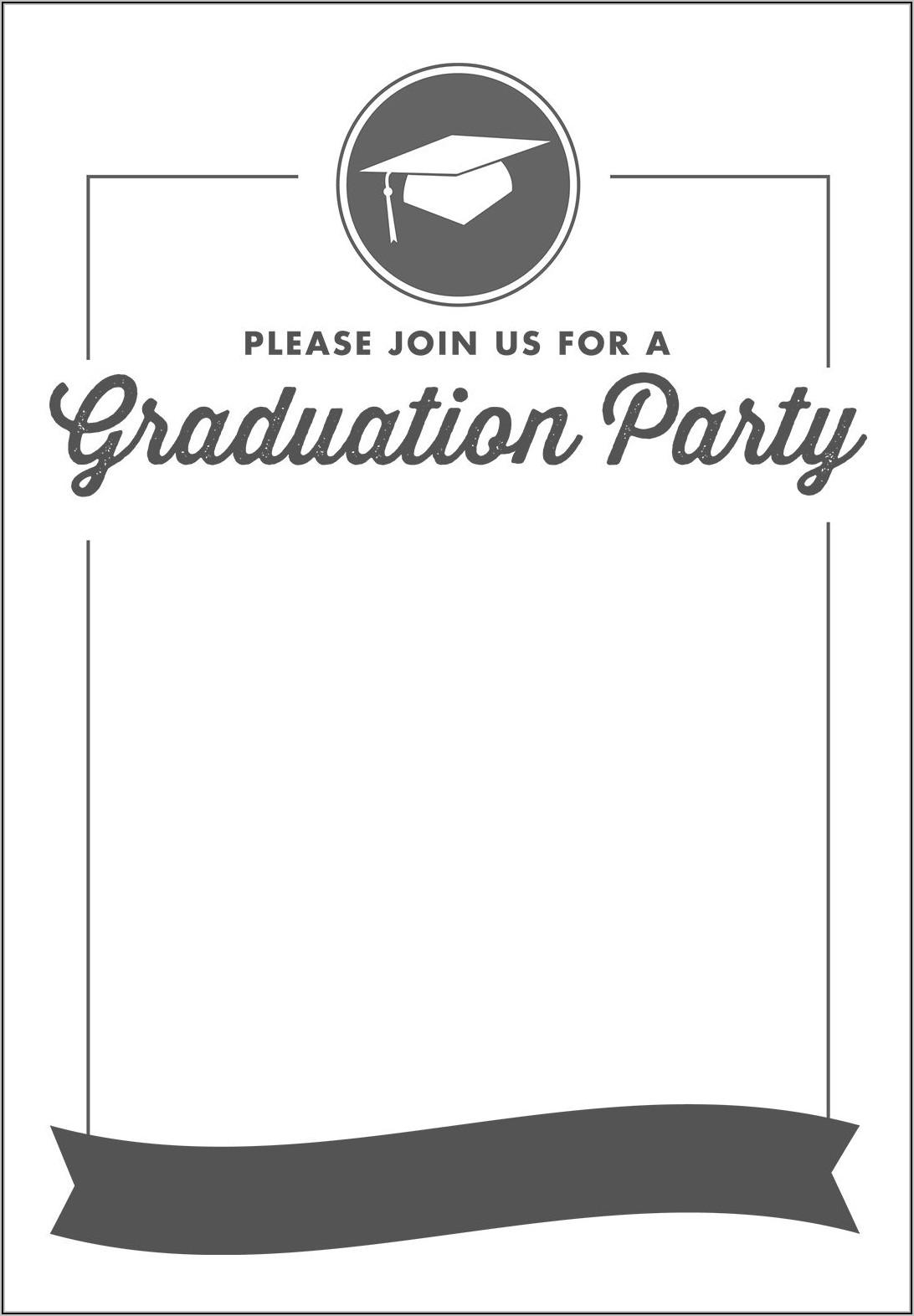 Graduation Scroll Invitation Templates