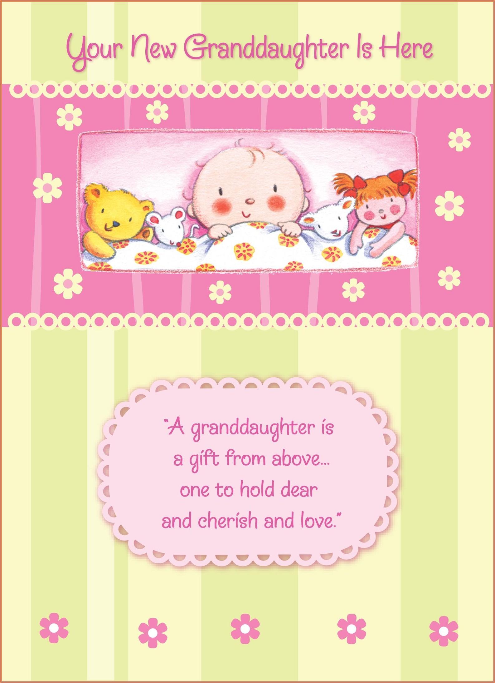 Granddaughter Birth Announcement Wording
