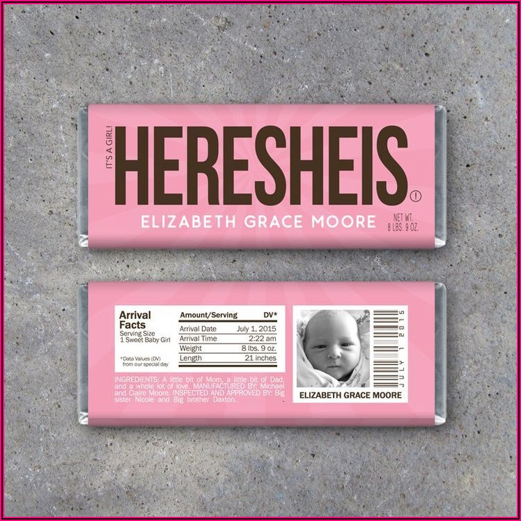 Hershey Candy Bar Baby Announcements
