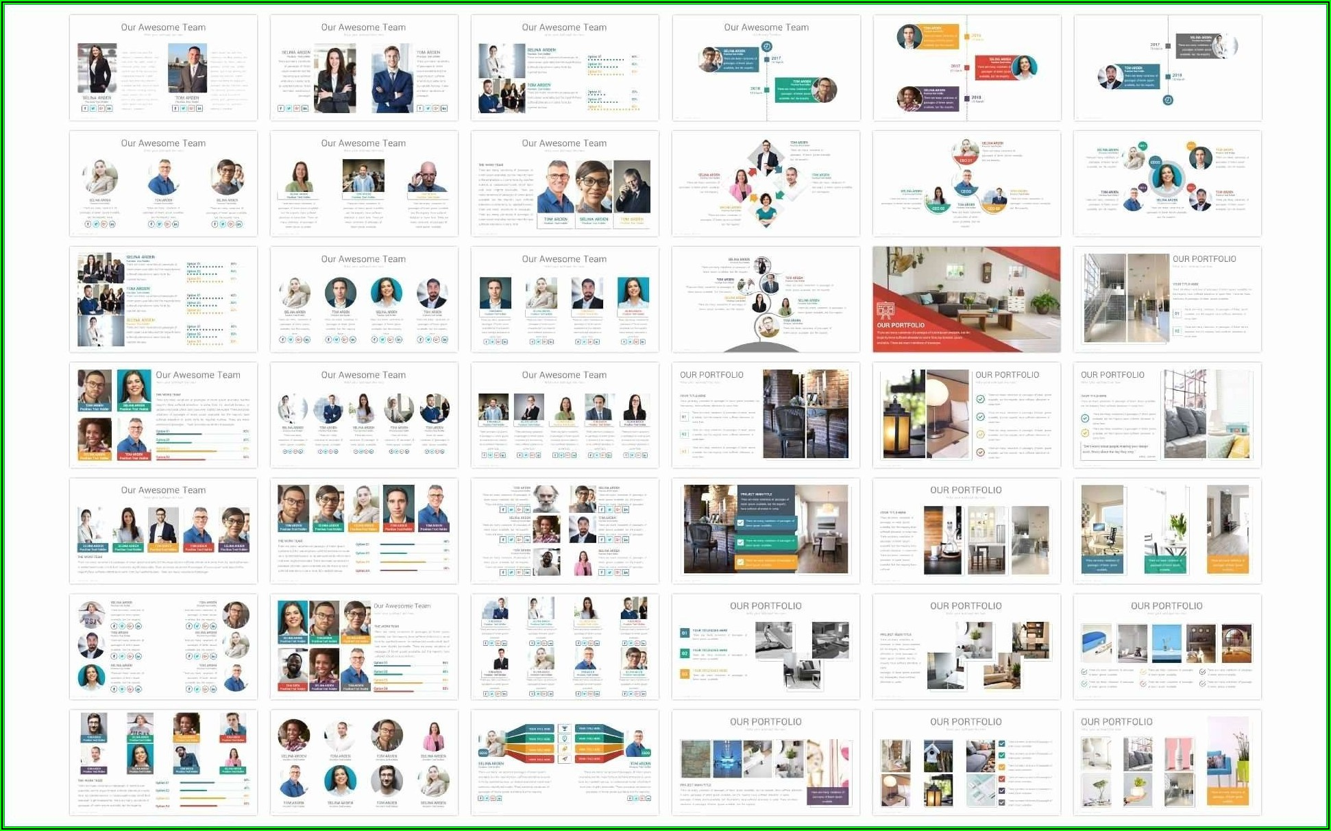 Interior Design Portfolio Template Free Download