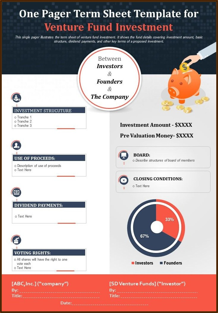 Investment Term Sheet Template Pdf