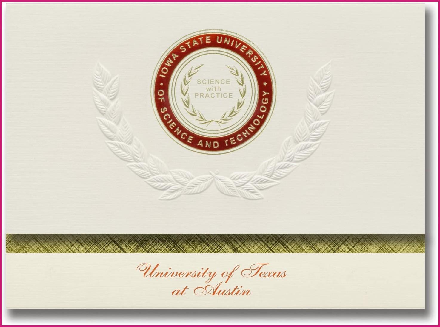 Iowa State University Graduation Announcements