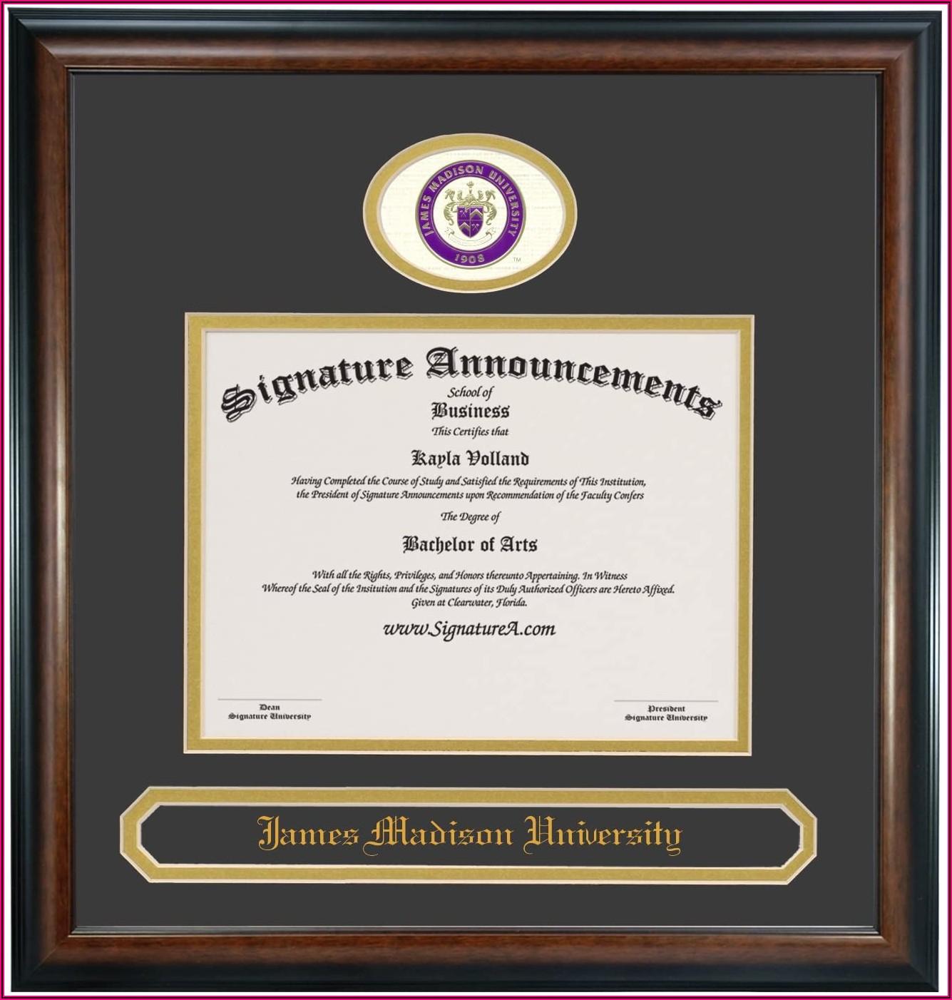 James Madison University Graduation Announcements