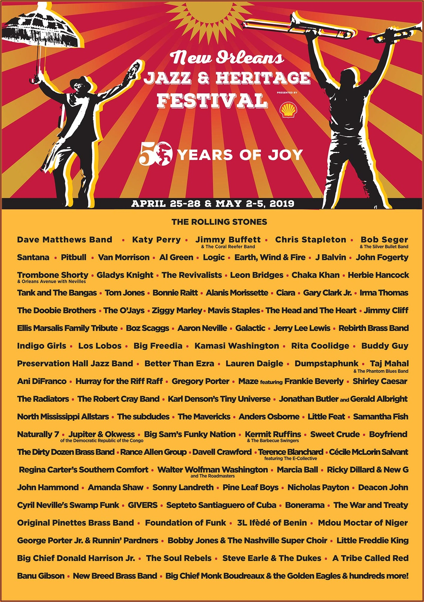 Jazz Fest Lineup Announcement 2019