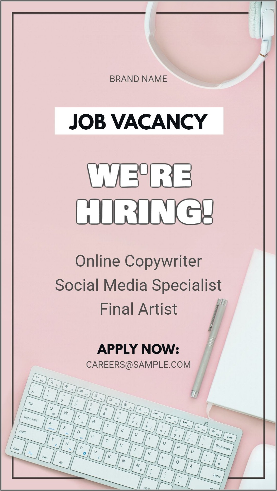 Job Vacancy Ad Template