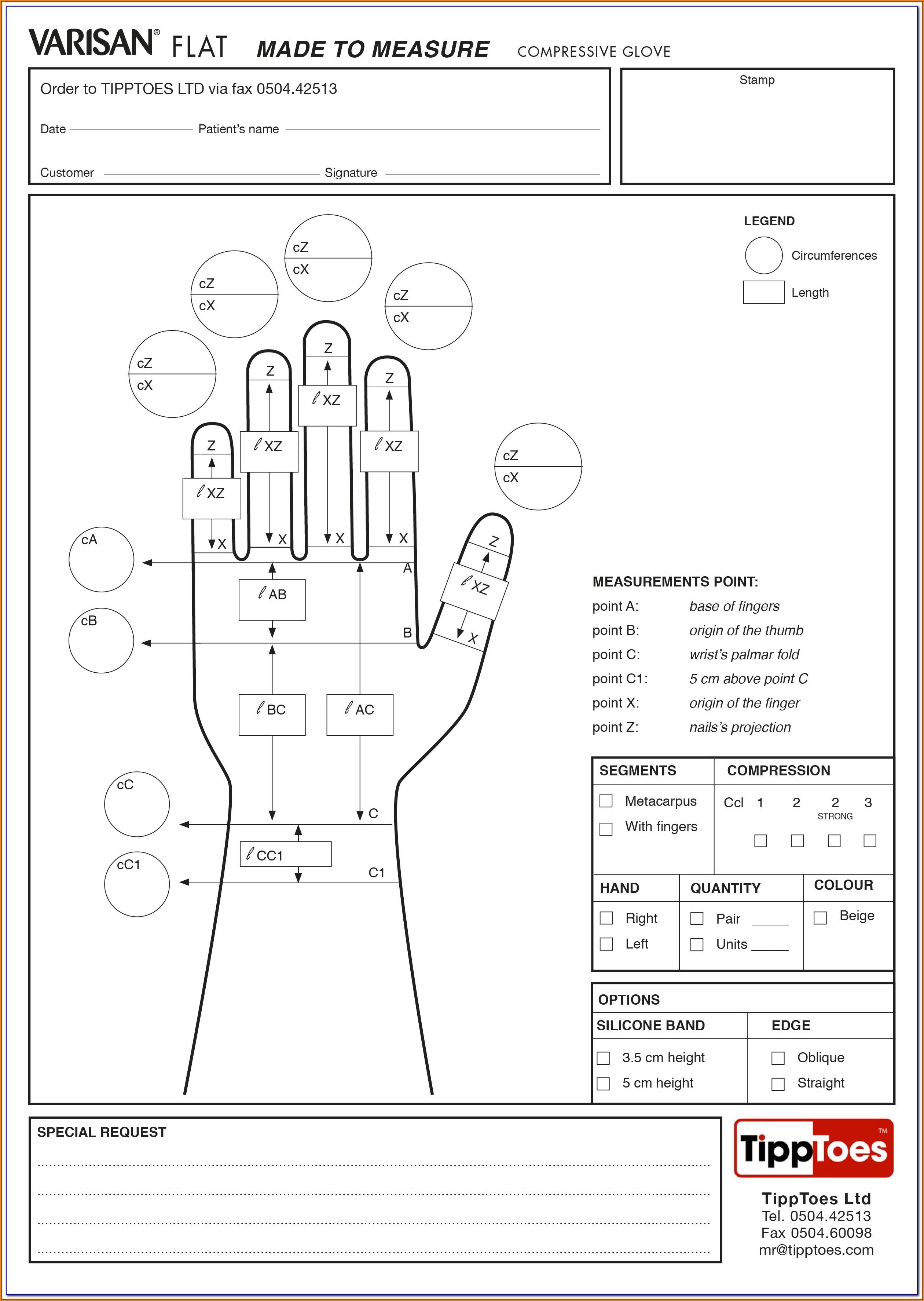 Jobst Elvarex Measurement Forms