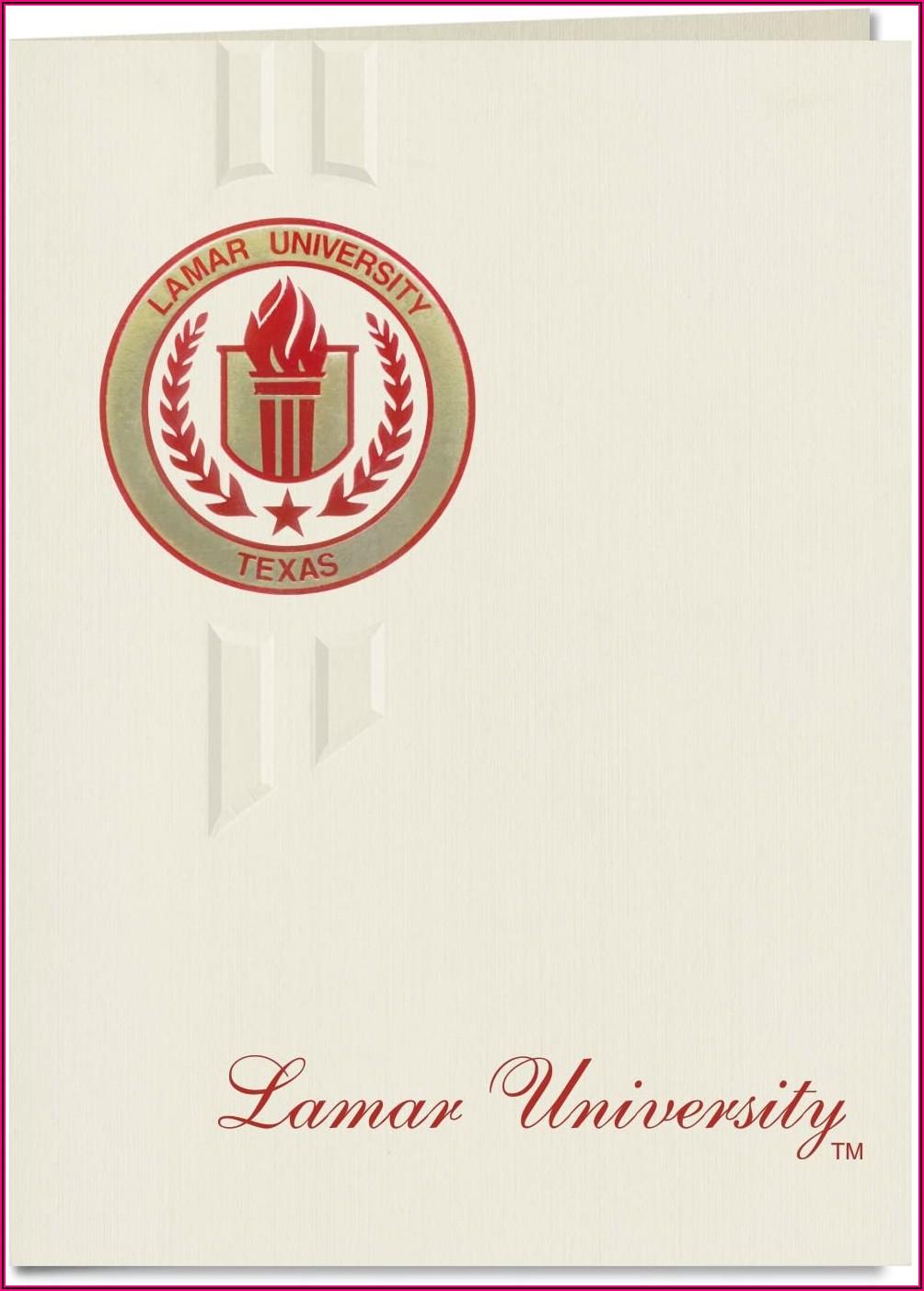 Lamar University Graduation Announcements