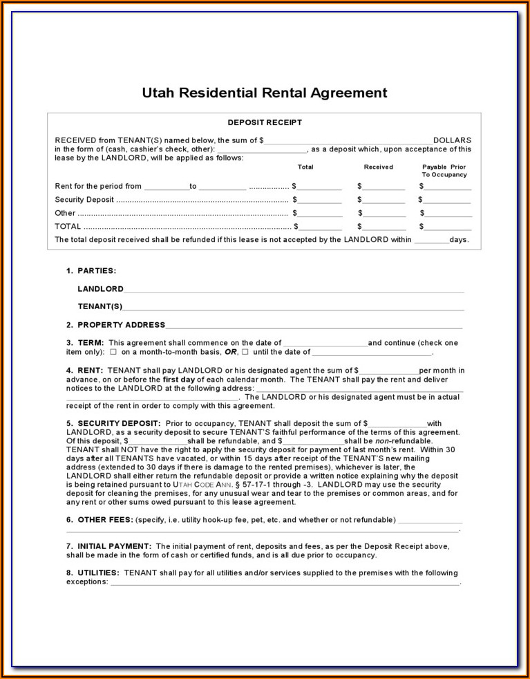 Landlord Forms For Tenants