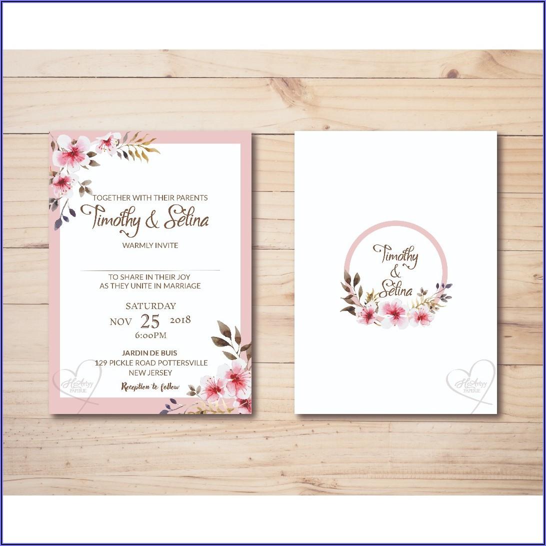 Light Pink Wedding Invitation Templates