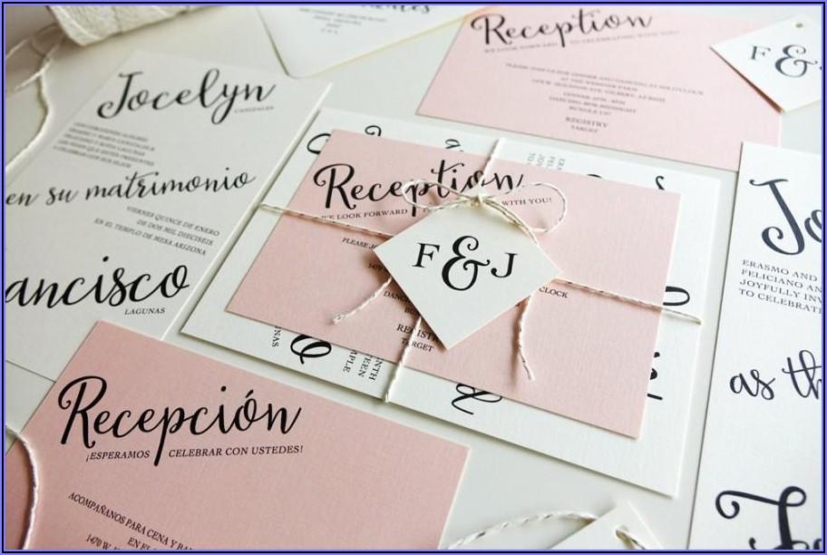 Light Pink Wedding Invitations