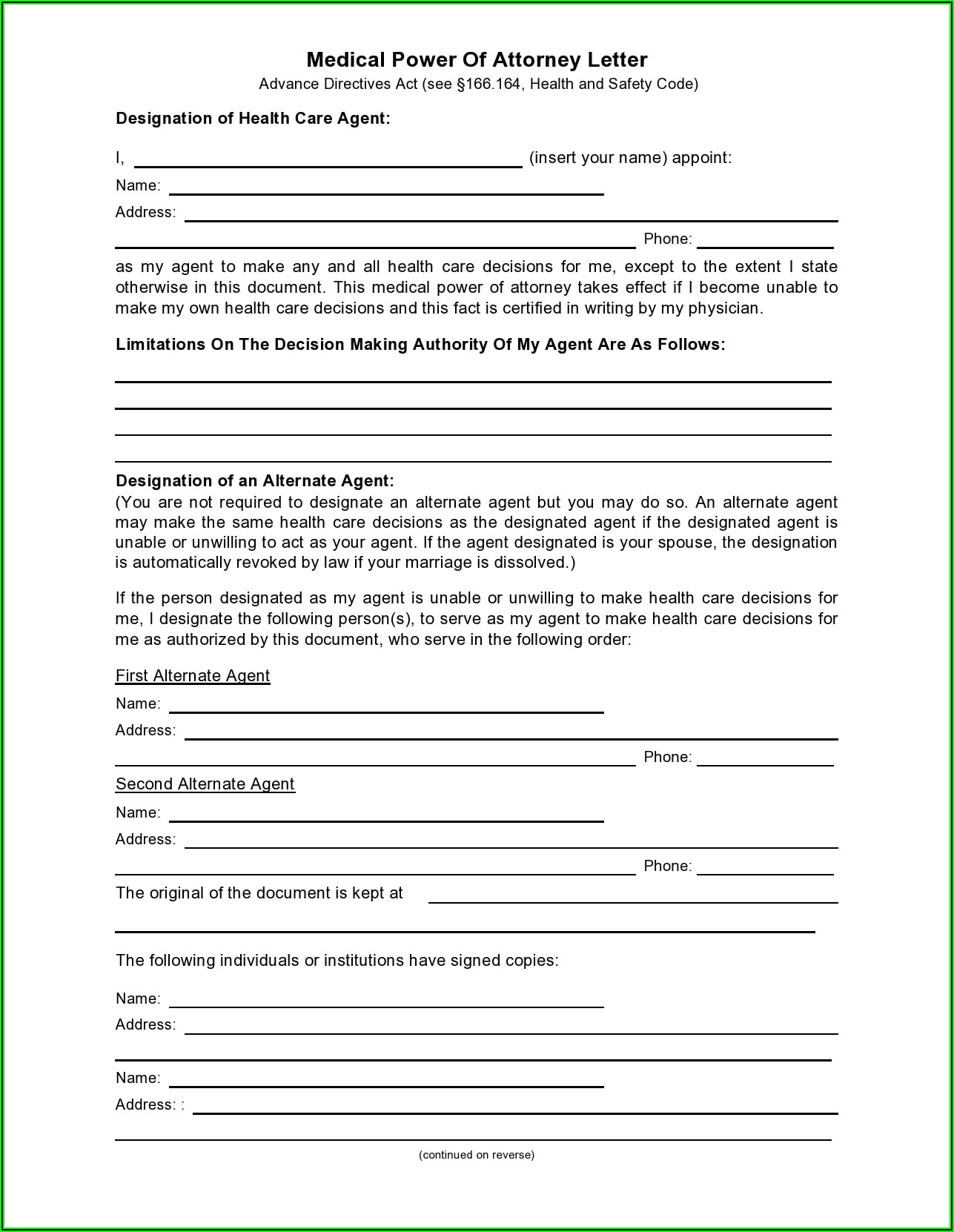 Limited Power Of Attorney Template South Africa