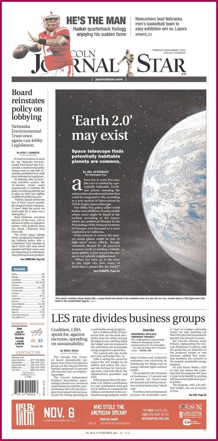Lincoln Journal Star Birth Announcements