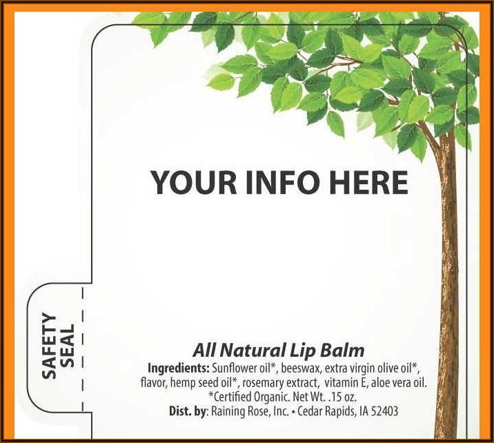 Lip Balm Labels Templates