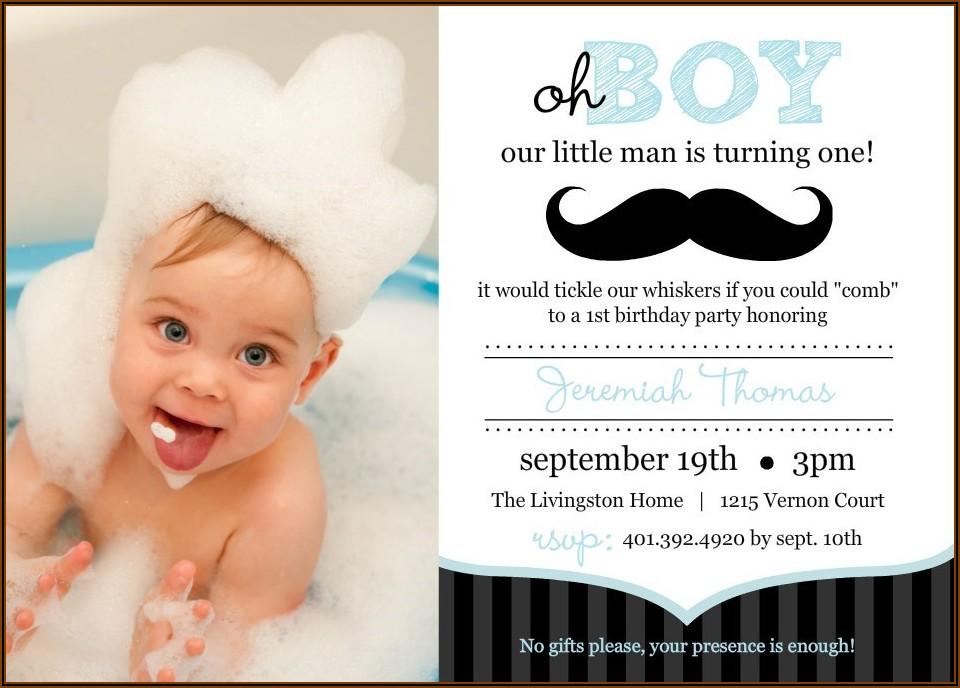 Little Man Birthday Invitation Template Free Online