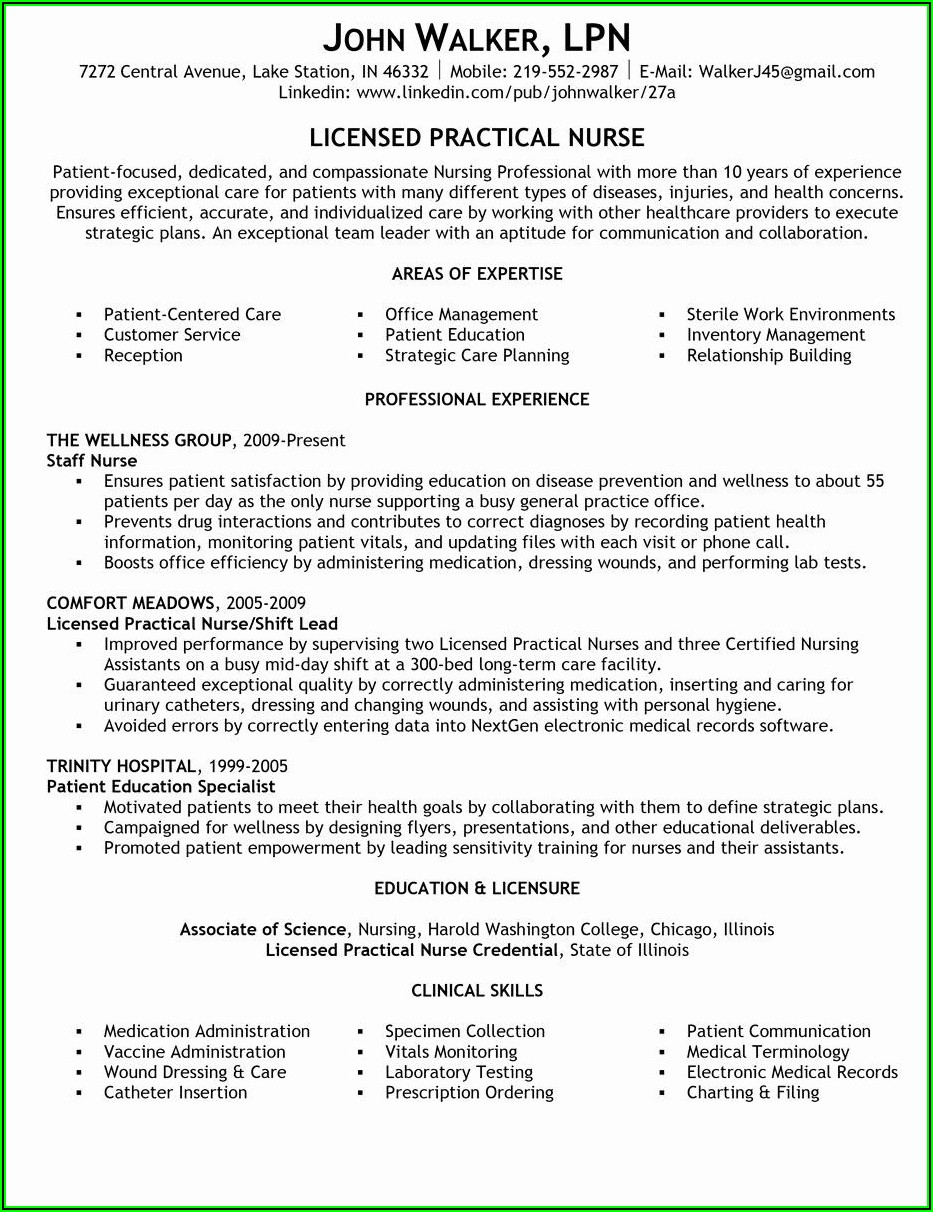 Lvn Resume Examples