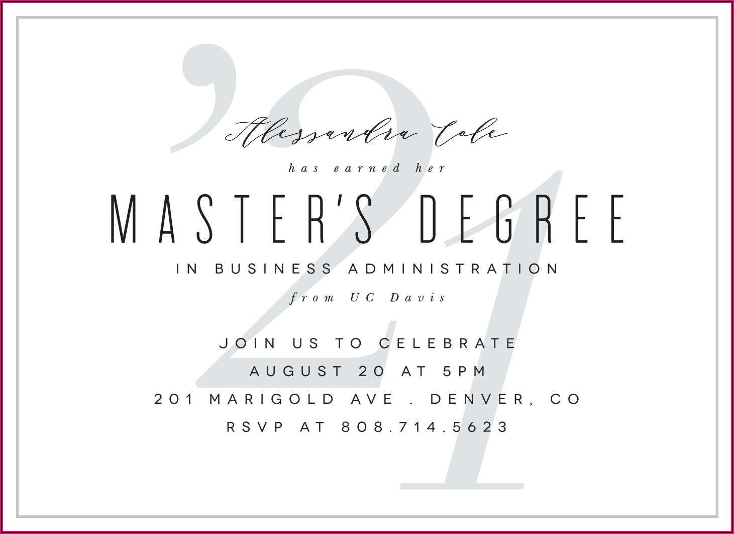 Master's Degree Graduation Announcement Etiquette