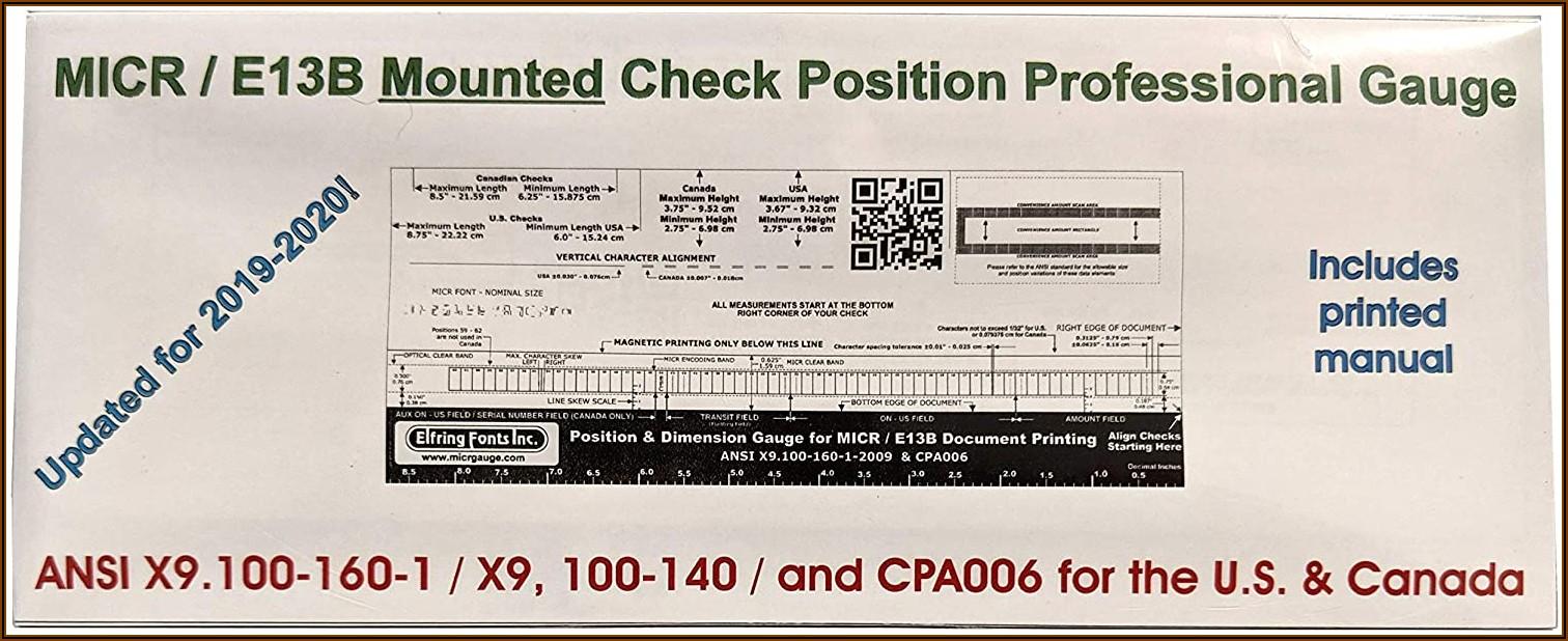 Micr Check Printing Template