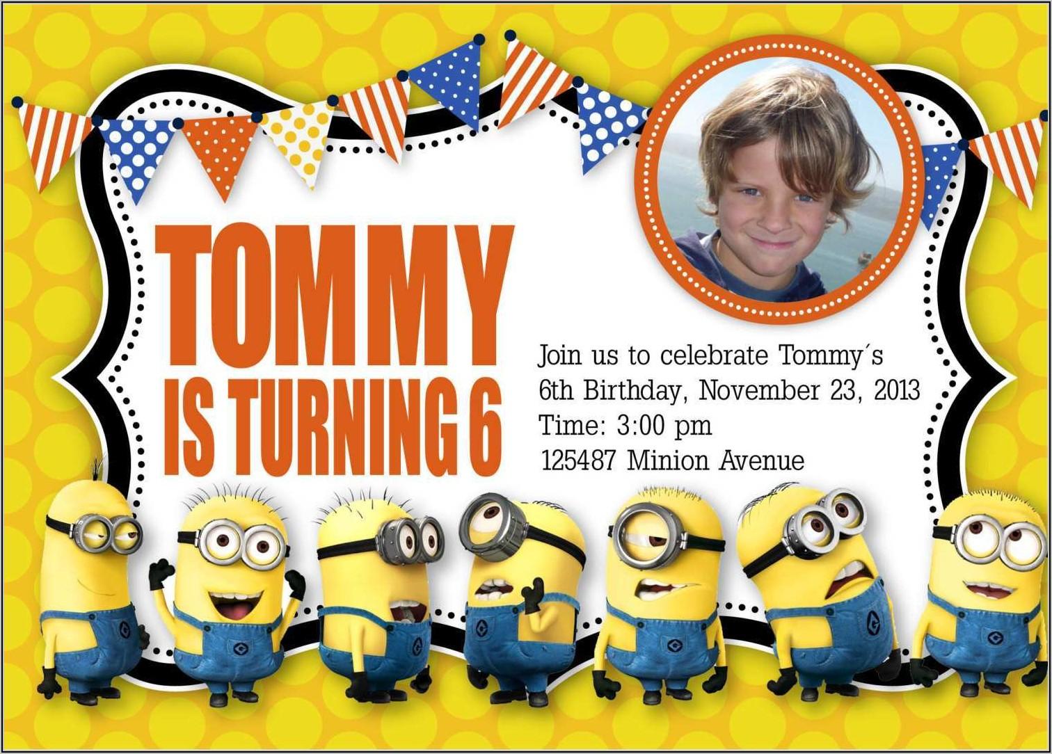 Minions Birthday Invitation Template
