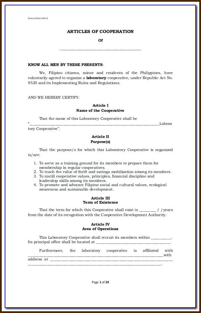 Motorcycle Club Bylaws Template