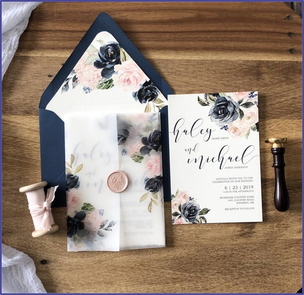 Navy And Blush Wedding Invitations Uk