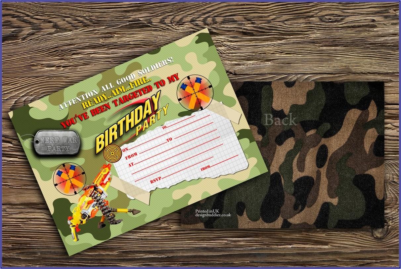 Nerf Battle Birthday Party Invitations