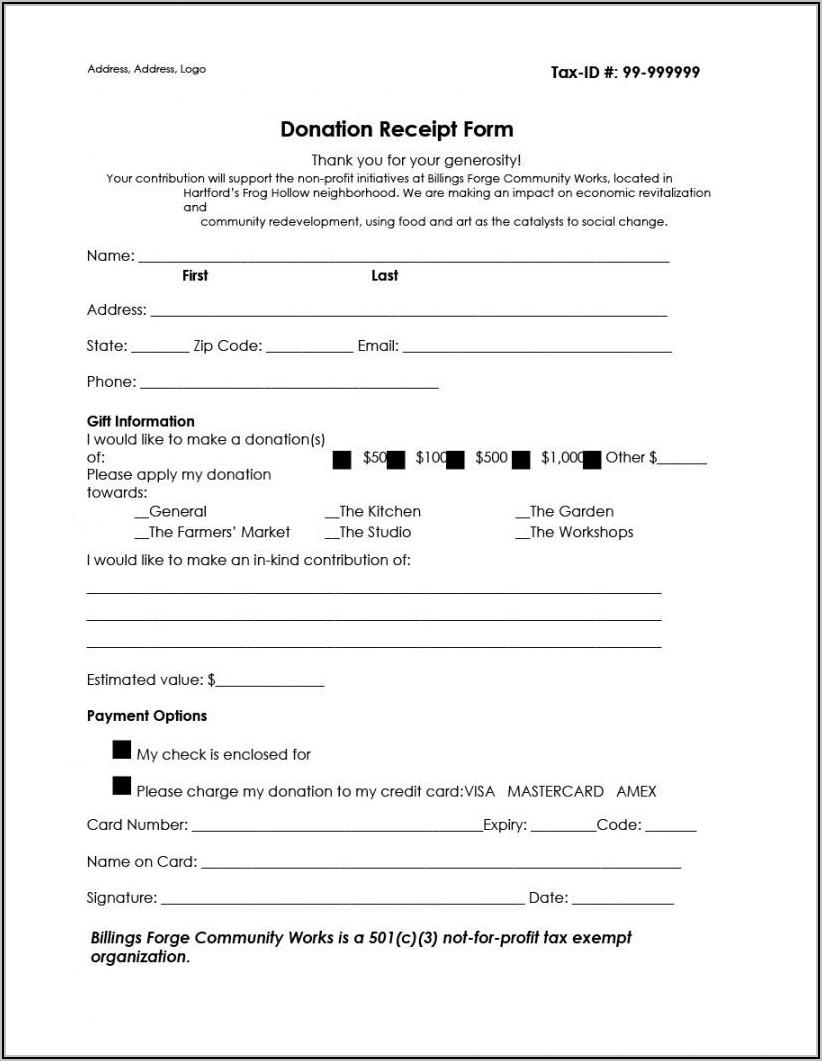 Non Profit Donation Receipt Letter Template