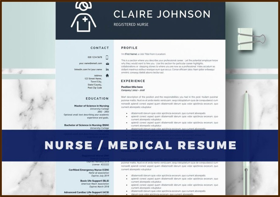 Nurse Cv Template Word Free Download