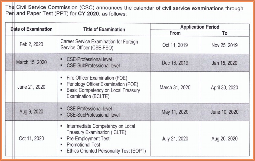 Nys Local Civil Service Exam Announcements