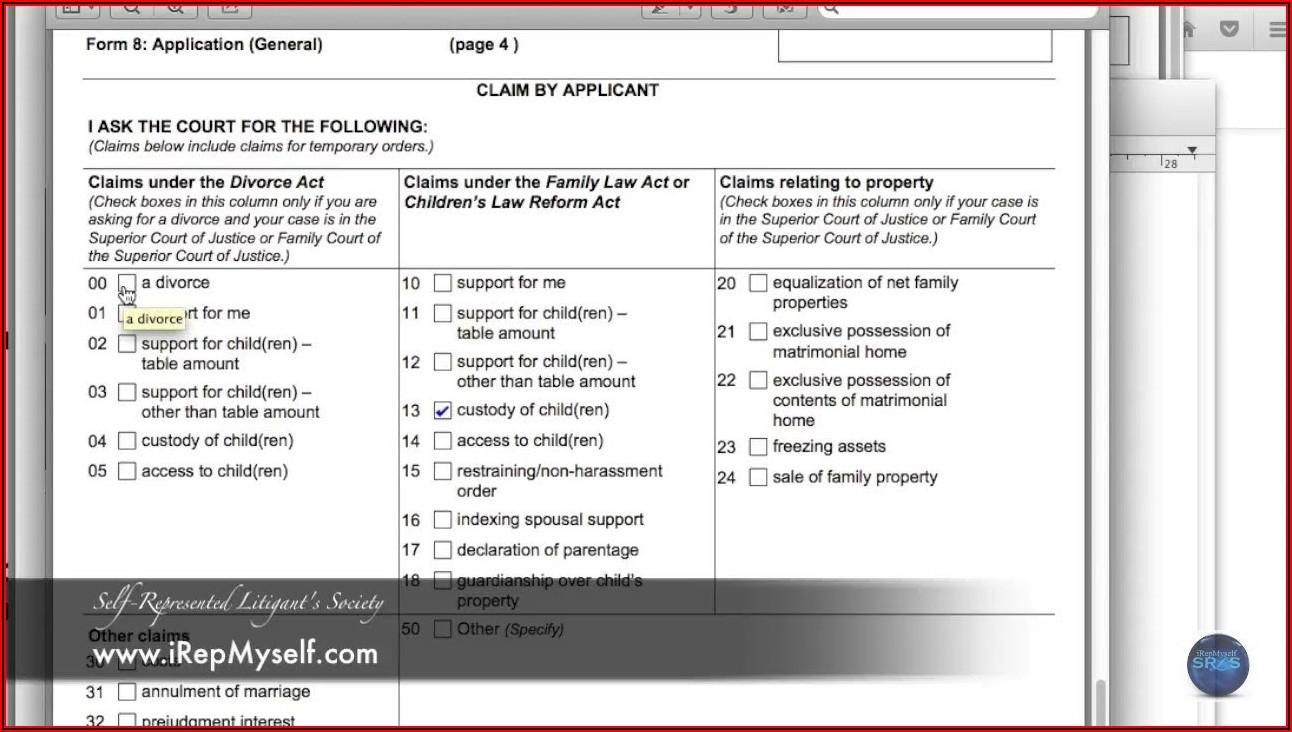 Ontario Divorce Forms 35.1