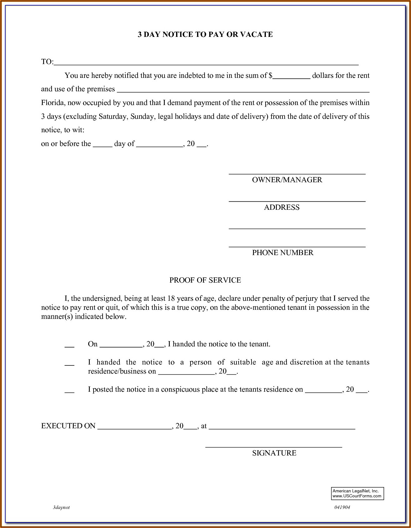 Oregon Landlord Eviction Forms