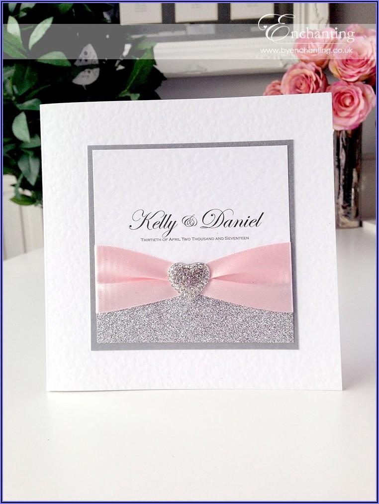 Pale Pink Wedding Invitations