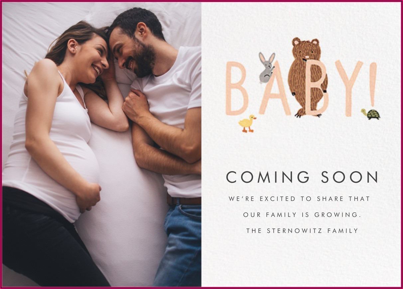 Paperless Post Pregnancy Announcement
