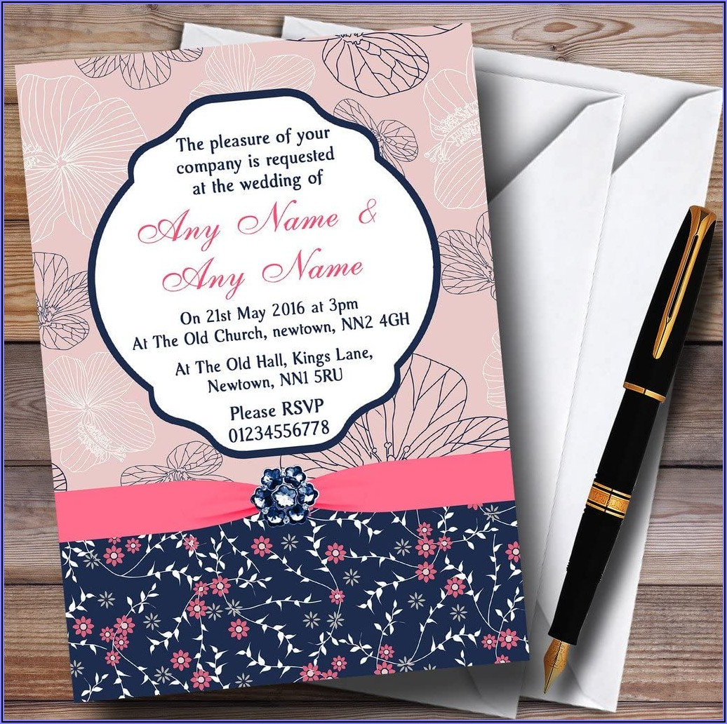 Pink Wedding Invitations Uk