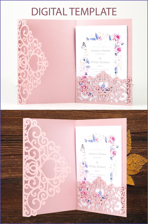 Pocket Fold Wedding Invitation Template
